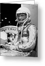 John Glenn Wearing A Space Suit Greeting Card