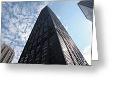 John Hancock Center And Surrounding Buildings Greeting Card