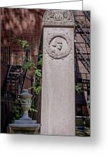 13- John Hancock Monument In Granary Burying Ground Eckfoto Boston Freedom Trail Greeting Card