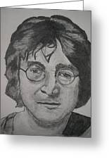 John Lennon Greeting Card by Christian Fralick