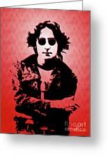 John Lennon - Imagine - Pop Art Greeting Card