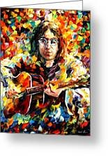 John Lennon Greeting Card by Leonid Afremov