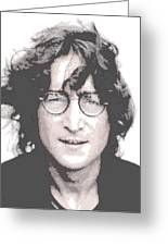John Lennon - Parallel Hatching Greeting Card