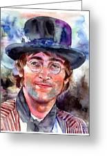 John Lennon Portrait Greeting Card