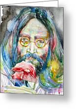 John Lennon - Watercolor Portrait.9 Greeting Card