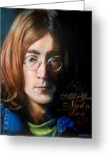 John Lennon - Wordsmith Greeting Card