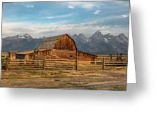 John Moulton Barn Sunrise Greeting Card