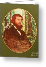 John Muir With A Chipmunk On His Shoulder Greeting Card