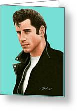 John Travolta Grease Greeting Card