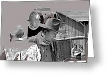 John Wayne And Director Howard Hawks  Alienated Rio Lobo Old Tucson Arizona 1970-2016 Greeting Card