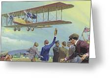 John William Alcock And Arthur Whitten Brown Who Flew Across The Atlantic Greeting Card