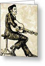 Johnny Cash II Greeting Card