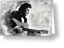 Johnny Cash Greeting Card