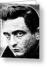 Johnny Cash Greeting Card by Paul Van Scott