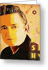 Johnny Cash Poster  Greeting Card