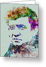 Johnny Cash Watercolor 2 Greeting Card