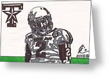 Johnny Manziel 11  Greeting Card by Jeremiah Colley