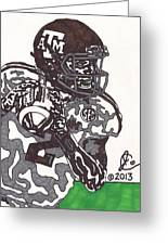 Johnny Manziel 8 Greeting Card by Jeremiah Colley