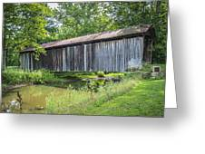 Johnson's Mill/salt Creek Covered Bridge  Greeting Card