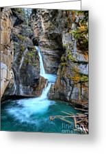 Johnston Canyon Falls Hike Upper Falls II Greeting Card
