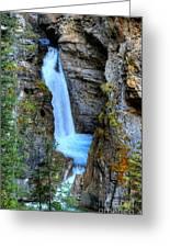 Johnston Canyon Falls Hike Upper Falls Greeting Card