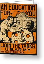 Join The Tanks Greeting Card