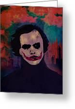 Joker Heath Ledger The Dark Knight Greeting Card