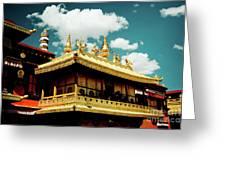 Jokhang Temple Fragment  Lhasa Tibet Artmif.lv Greeting Card