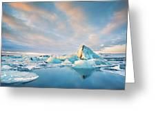 Jokulsarlon Glacier Lagoon Greeting Card by Mihai Andritoiu