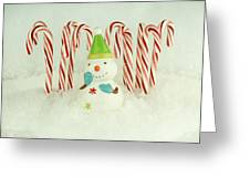 Jolly The Snowman II Greeting Card
