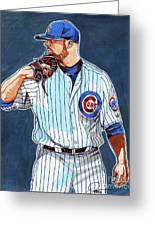 Jon Lester Chicago Cubs Greeting Card