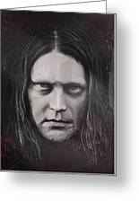 Jonas P Renkse Musician From Katatonia Band By Julia Art Greeting Card