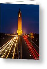 Jones Beach Pencil Light Trails Greeting Card