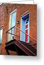 Jonesborough Tenessee - Upstairs Neighbors Greeting Card