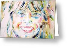 Joni Mitchell - Watercolor Portrait Greeting Card