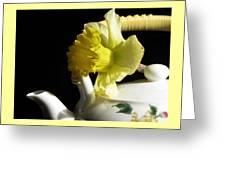 Jonquil Tea Greeting Card