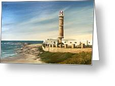Jose Ignacio Lighthouse Evening Greeting Card
