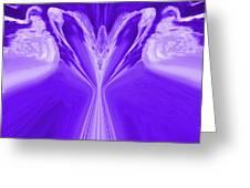 Josea - Purple Greeting Card