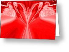 Josea - Red Greeting Card