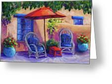 Josefina's Courtyard Greeting Card by Candy Mayer