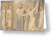 Joseph And Potiphar's Wife Greeting Card