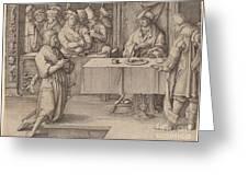 Joseph Interprets The Dreams Of The Pharaoh Greeting Card