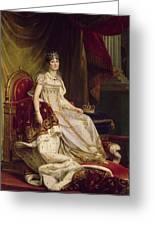 Josephine In Coronation Costume Greeting Card