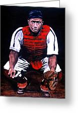 Josh Gibson - Catcher Greeting Card by Ralph LeCompte