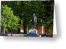 Joshua Lawrence Chamberlain Statue, Brunswick, Maine #0013 Greeting Card