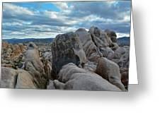 Joshua Tree Boulder Sky Greeting Card