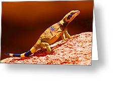 Joshua Tree Lizard Greeting Card
