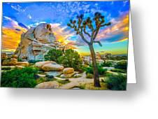 Joshua Tree Magic Hour Hdr Greeting Card