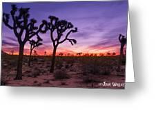 Joshua Tree Pastel Colors Greeting Card