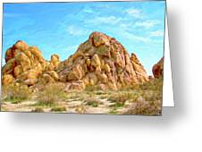 Joshua Tree Rocks Greeting Card